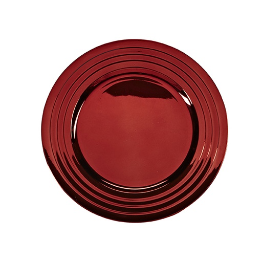 [160234-BB] Charger Plate Red