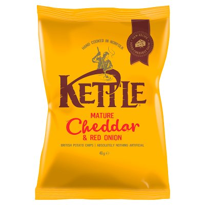 [200032-BB] Kettle Chips Mature Cheddar and Red Onion 40g
