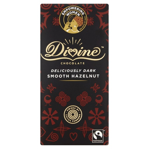 [200037-BB] Divine Fairtrade Hazelnut Deliciously Dark And Smooth  90g