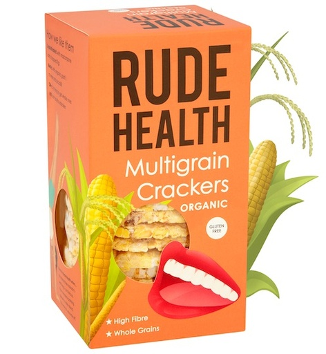 [200130-BB] Rude Health Organic Multigrain Crackers 160g