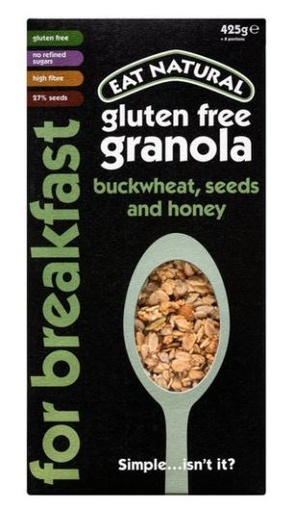 [200181-BB] Eat Natural for Breakfast Gluten Free Granola Buckwheat, Seeds and Honey 425g