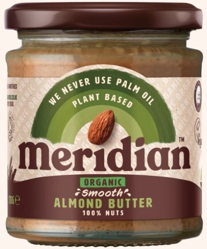 [200193-BB] Meridian Organic Smooth Almond Butter 170g