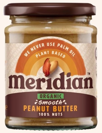 [200194-BB] Meridian Organic Smooth Peanut Butter 280g