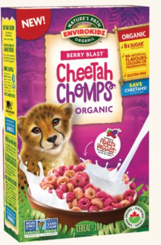 [200353-BB] Envirokidz Cheetah Chomps Berry Blast Cereal 10oz