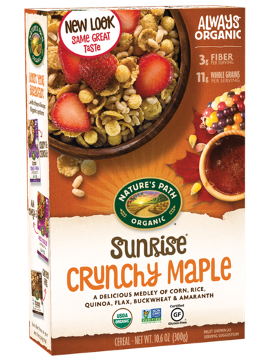 [200355-BB] Nature's Path Crunchy Maple Gluten Free Cereal 10.6oz