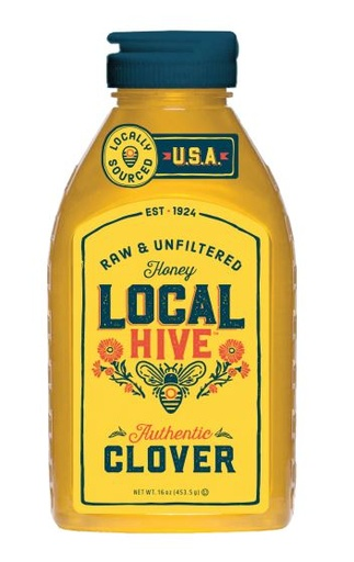 [200413-BB] Local Hive Clover Honey Raw & Unfiltered 16oz