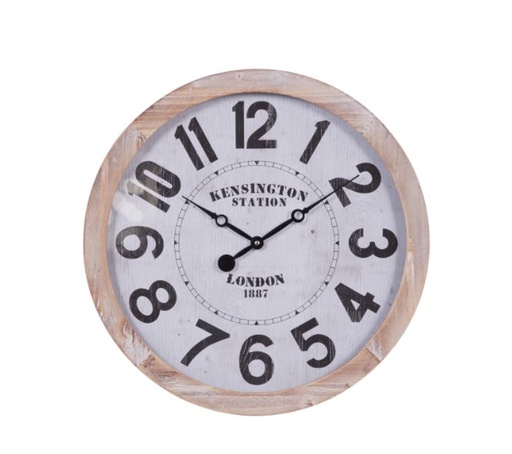 [160416-BB] Square Wall Clock White 20in