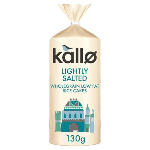 [200753-BB] Kallo Organic Lightly Salted Wholegrain Rice Cakes 130g