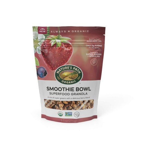 [200864-BB] Nature's Path Organic Smoothie Bowl Superfood Granola 9.5oz