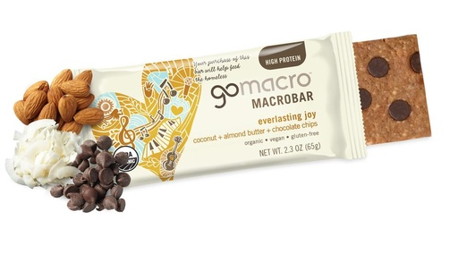 [200874-BB] Go Macro Coconut Almond Butter Chocolate Chip Bar 2.3oz