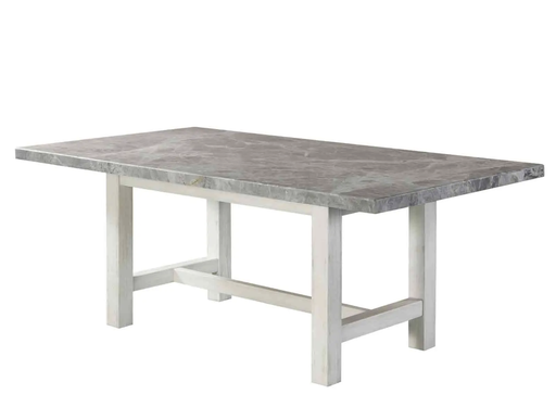 [161880-BB] Canova Marble Top Dining Table Gray