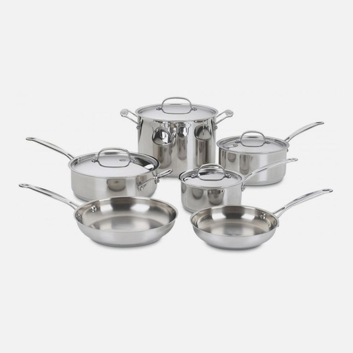 [107027-BB] Chef's Classic SS 10Pc Set