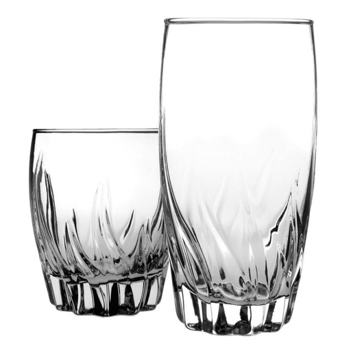 [303061-BB] Central Park Drinkware Set 16p