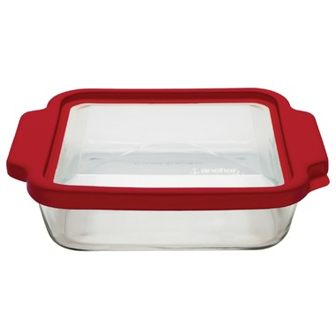 [149730-BB] Truefit Oven Basics Square Cake Dish 8in Cherry