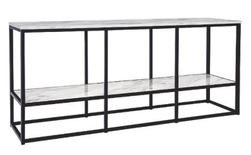 "[503668-BB] Donnesta 65"" TV Stand Gray/Black"
