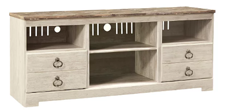 "[502709-BB] Willowton 64"" TV Stand Whitewash"