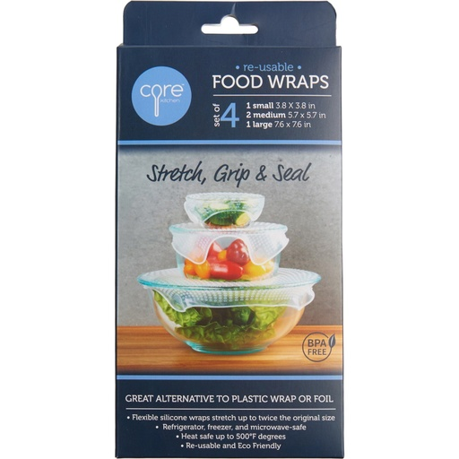 [157680-BB] Reusable Food Wraps 4pc