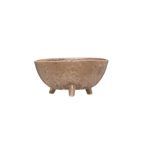 [157655-BB] Stoneware Footed Planter 9x4in