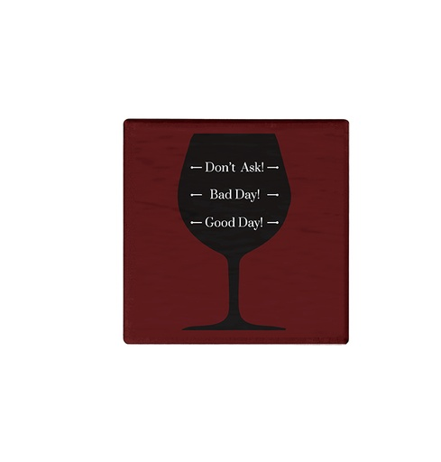 [304542-BB] Wine Level Coaster S/6