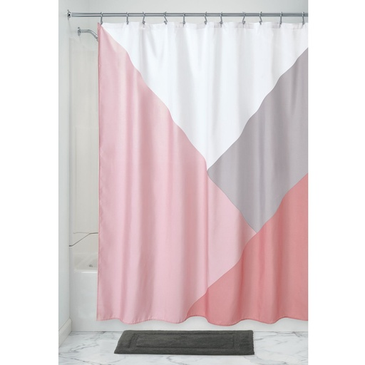 [157115-BB] Colorblock Shower Curtain