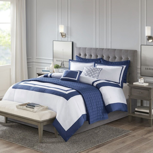[157584-BB] Heritage Qn Comf Set Navy