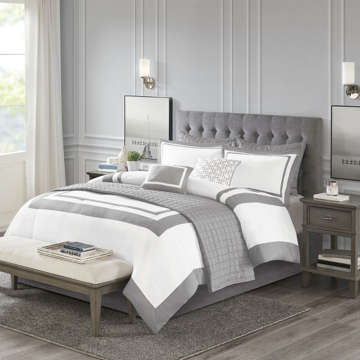 [157582-BB] Heritage Qn Comf Set Grey